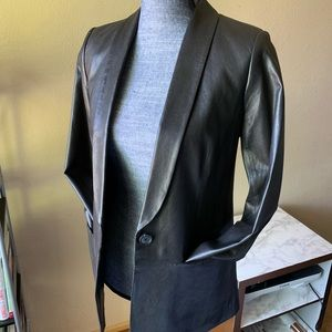 Vince leather blazer (great condition)